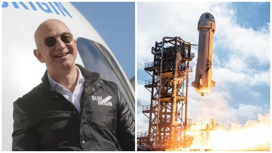 Amazon chief on a space trip