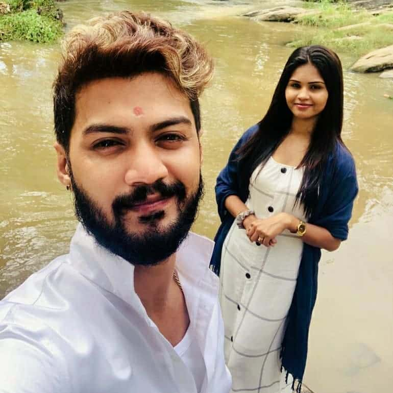 Harshana with his beautiful second wife