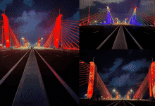 Thought it was abroad..no this new Kelani flyover is beautiful ..!