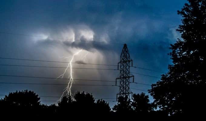 Power outages in many areas due to rains and winds