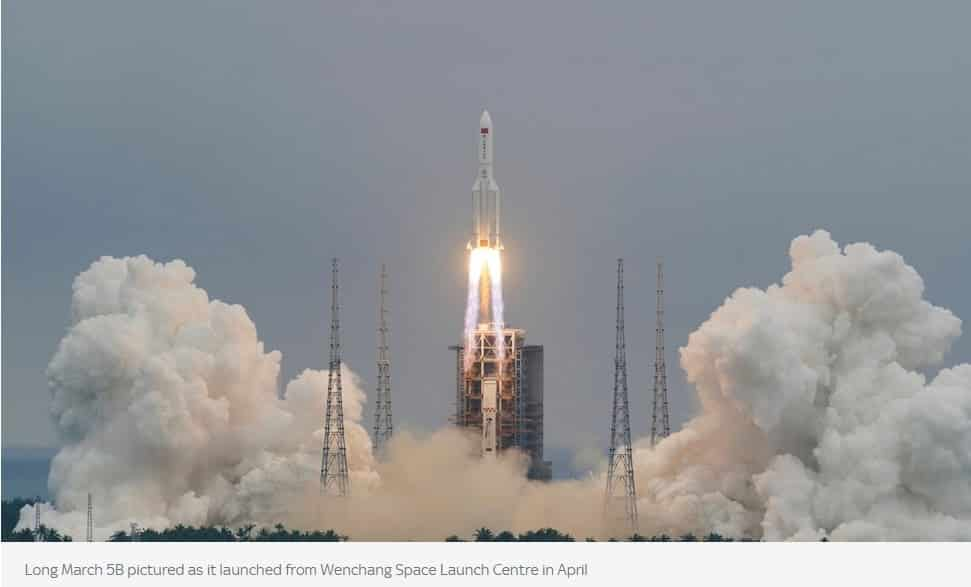The rest of the Chinese rocket crashes into the Indian Ocean