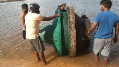 The buoy of the Express Pearl has arrived in Aluthgama